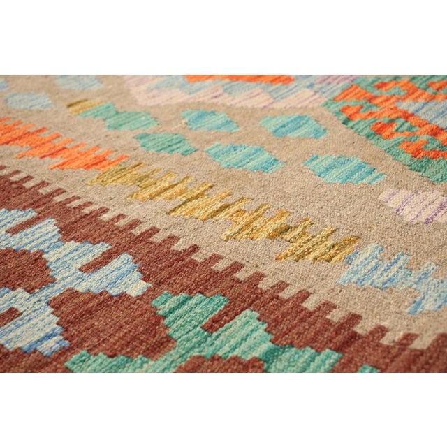 "Textile Turkish Sivas Kilim Rug-6'4"" X 9'3"" For Sale - Image 7 of 9"