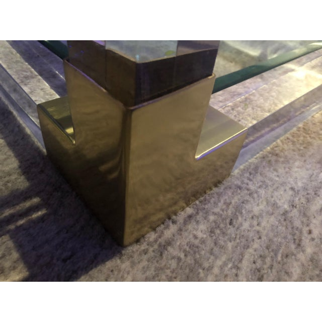 Charles Hollis Jones Attributed Lucite Coffee Table For Sale In Los Angeles - Image 6 of 7