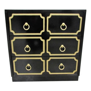 Dorothy Draper España Inspired Black Lacquered Chest