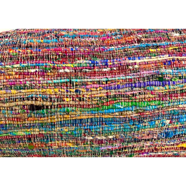 Hand-Woven Silk and Linen Pillow For Sale - Image 9 of 9