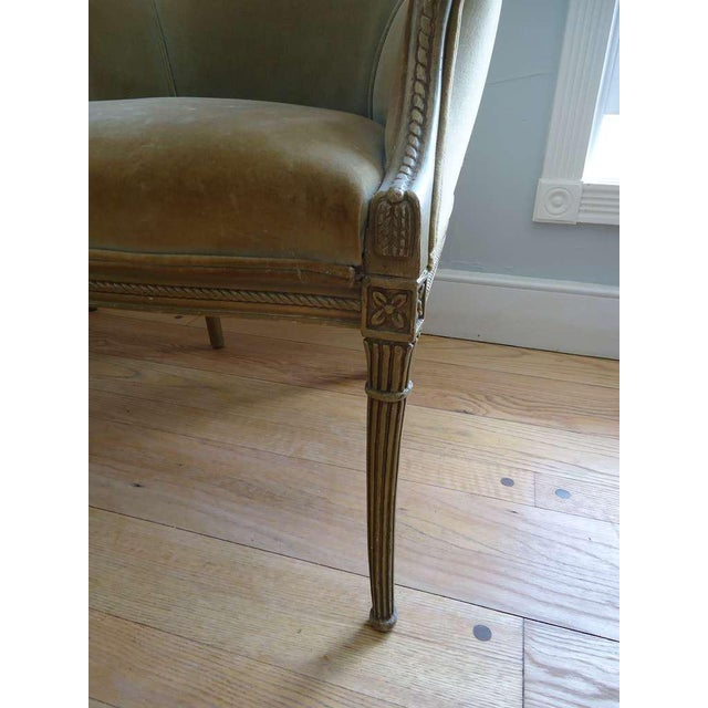 Green French Art Deco Velvet Armchairs - a Pair For Sale - Image 8 of 10
