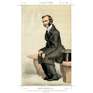 """1869 """"Rev. Frederick Temple"""" Vanity Fair Portrait Lithograph Print For Sale"""