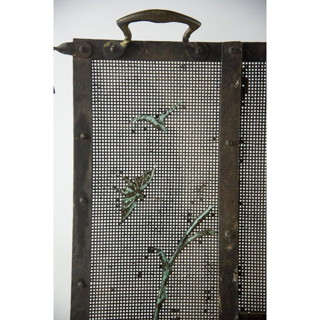 Italian Iron Fireplace Screen For Sale - Image 4 of 7
