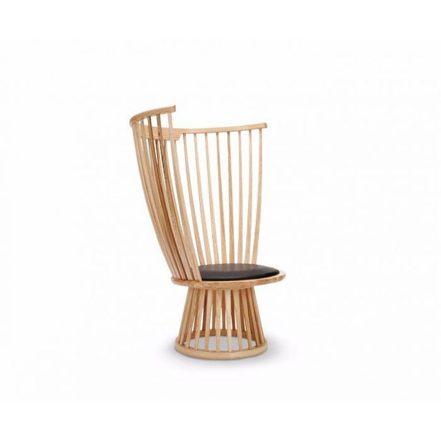 Contemporary Tom Dixon Fan Chair Natural For Sale - Image 3 of 12