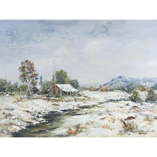 Snow Covered Cabin Painting For Sale