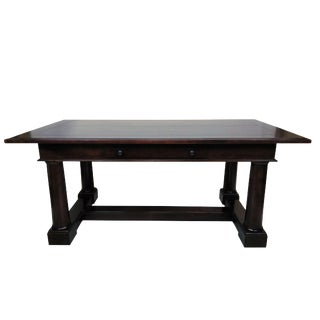 Large Mahogany 2 Drawer Writing Desk / Table For Sale