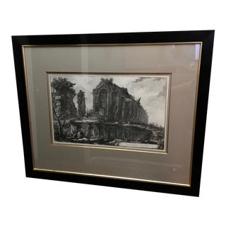 "Large 19th C. Piranesi Engraving ""Ruins of an Amphitheater Near Rome"" For Sale"