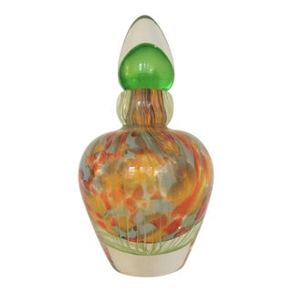 Vintage Murano Art Glass Sommerso Perfume Bottle With Stopper For Sale