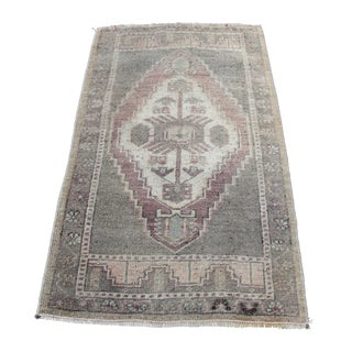Hand Knotted Vintage Carpet - 1′8″ × 2′8″