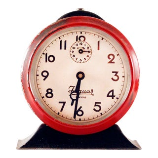 Vintage Swiss 'Jaguar' Alarm Clock For Sale