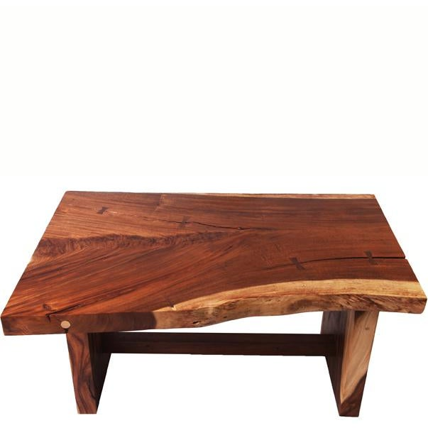 The design of this dining table is inspired from the shape of original wood slab. The top is hand polished to display...
