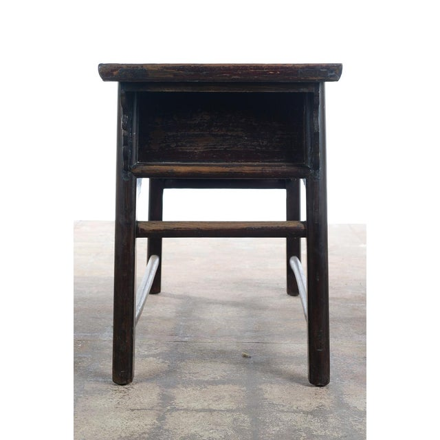 Brown Chinese Antique Wooden Altar Table With Drawers For Sale - Image 8 of 10