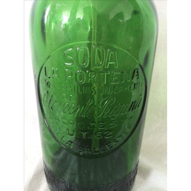 Vintage Green Seltzer Bottle - Image 3 of 5
