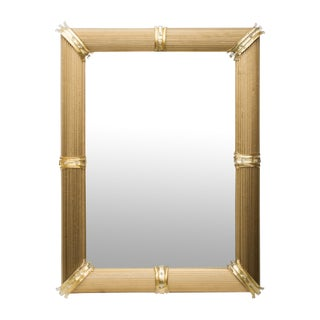 Gold Venetian Rigatello Mirror For Sale