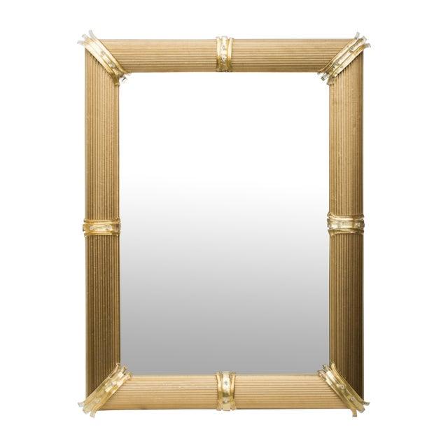 Gold Venetian Rigatello Mirror For Sale