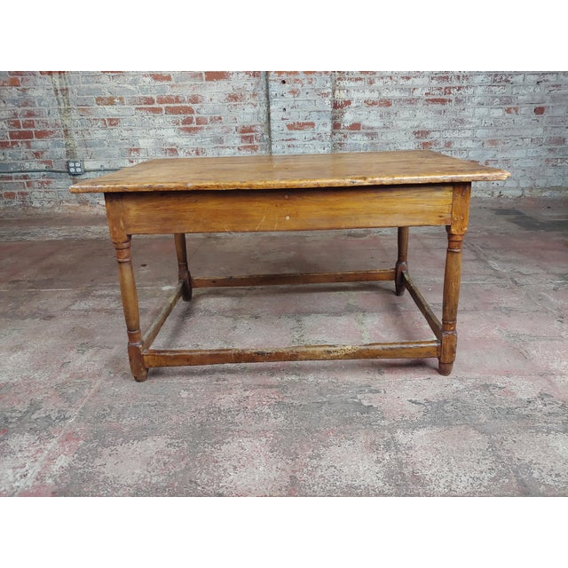"19th century English walnut Farm coffee table 2 drawers size 41 x 30 x 22"" A beautiful piece that will add to your décor!"