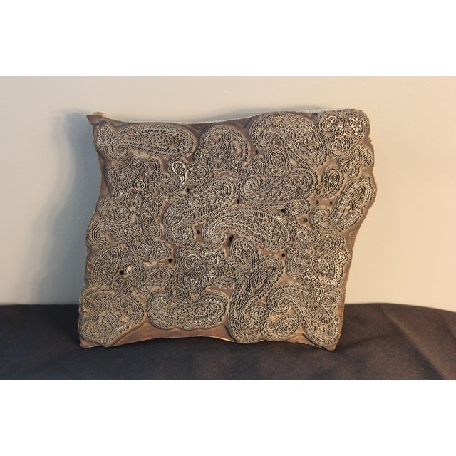 Antique Italian Paisley Fabric Mold - Image 2 of 5
