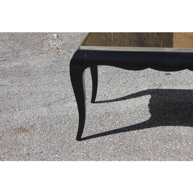 1940s French Art Deco Ebonized Coffee Table For Sale - Image 9 of 13