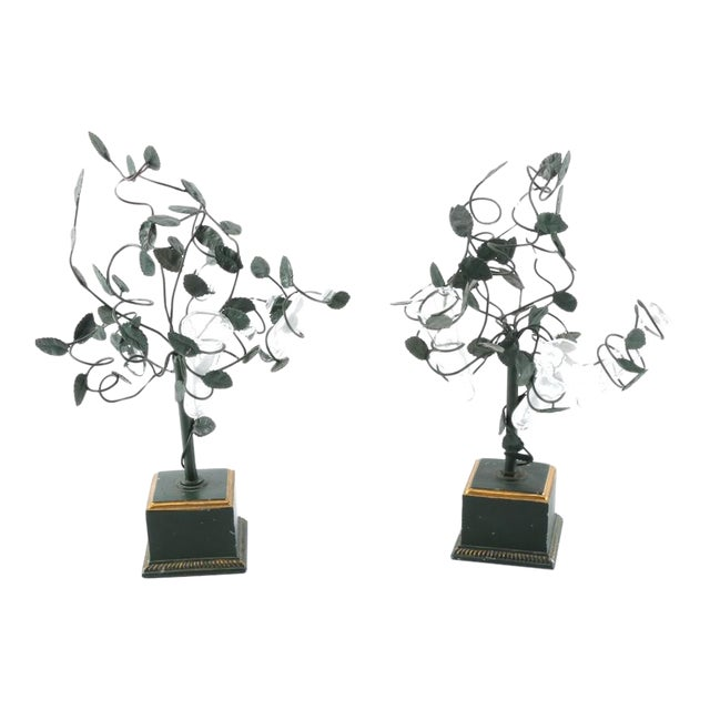 Italian Tole Tree Epergnes - A Pair For Sale