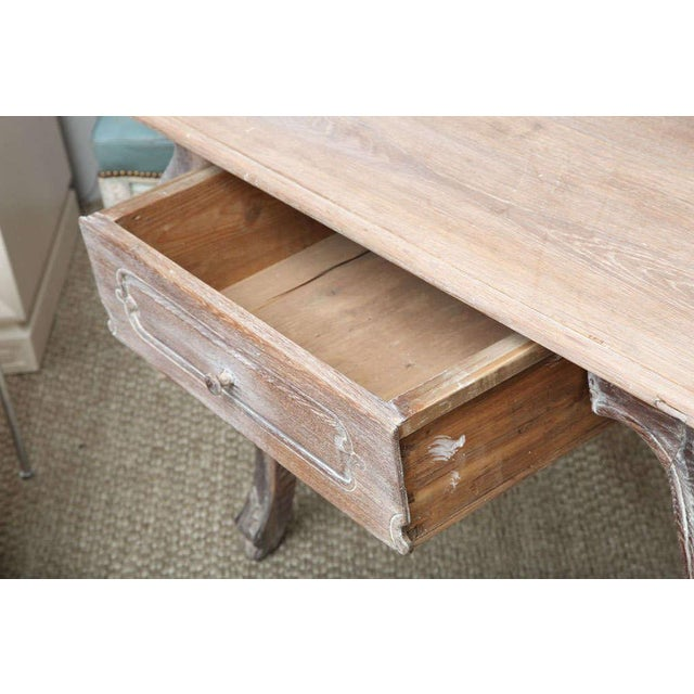 French Cerused Oak Writing Table For Sale In New York - Image 6 of 11