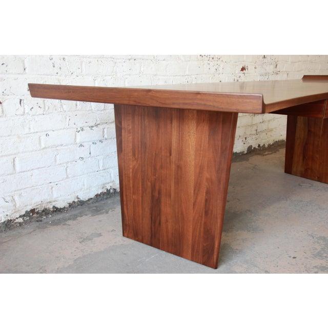Excellent Curved Top Walnut Harvey Probber Executive Desk For Sale - Image 11 of 14