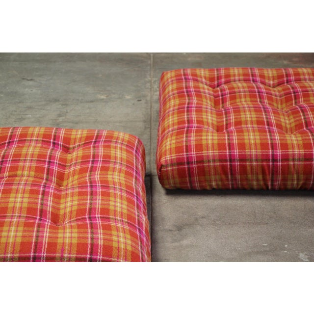 1970s Vintage Roche Bobois Mah Jong Ottomans - a Pair For Sale In San Diego - Image 6 of 13