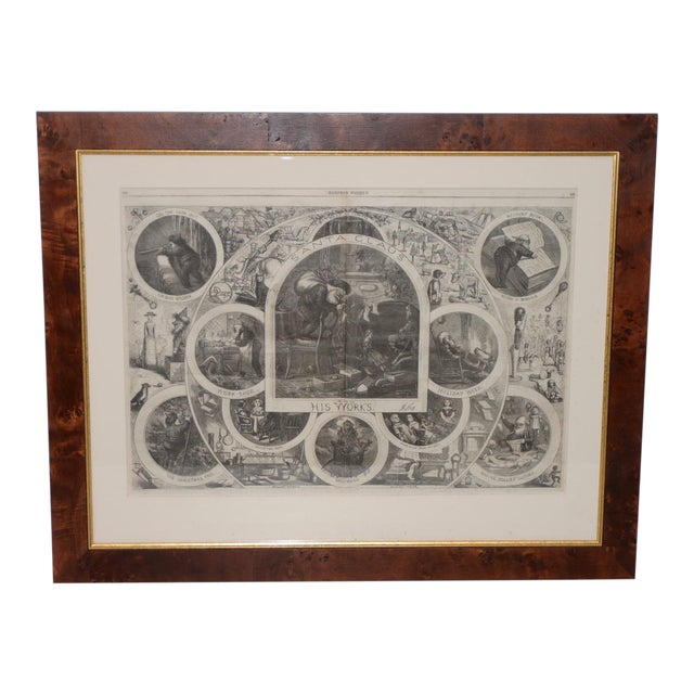 """1880s """"Santa Claus and His Works"""" Illustration by Thomas Nast for Harper's Weekly For Sale"""