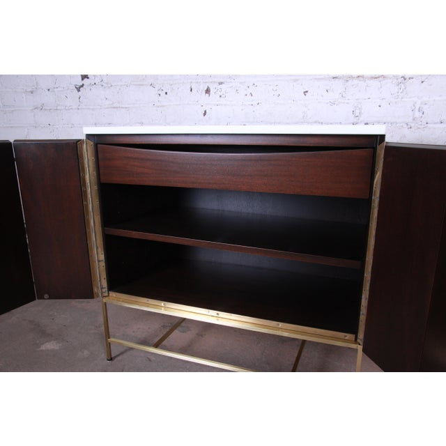 Paul McCobb Irwin Collection Mahogany and Brass Sideboard Cabinets (2 Available) For Sale In South Bend - Image 6 of 13
