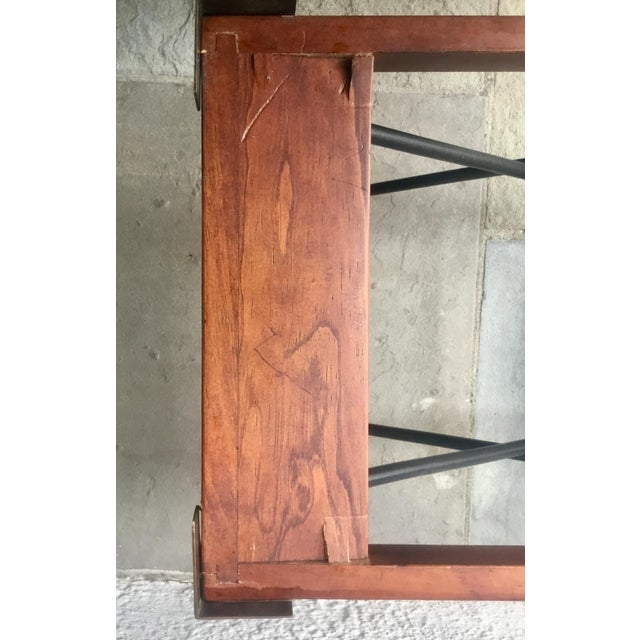 English Campaign Style Writing Box on Iron Stand For Sale - Image 11 of 12