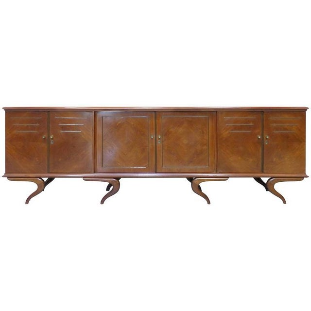Monumental and Important Sculptural Credenza Giusseppe Scapinelli, circa 1960 For Sale - Image 10 of 10