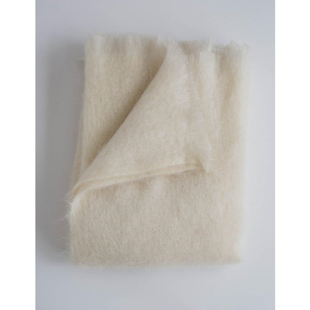 Mohair Throw in Pearl For Sale - Image 13 of 13