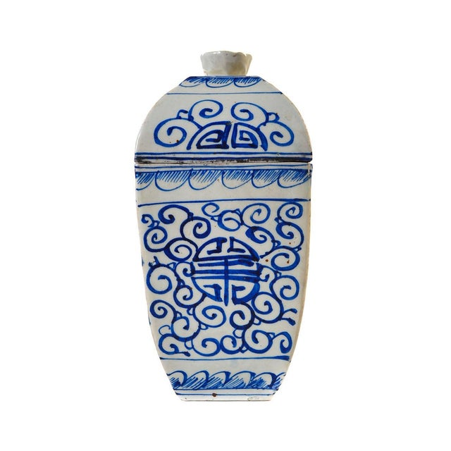 Chinese 19th Century Blue & White Urns - A Pair For Sale In Los Angeles - Image 6 of 10