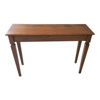 Italian Style Solid American Cherry Tall Console Sofa Side Table For Sale