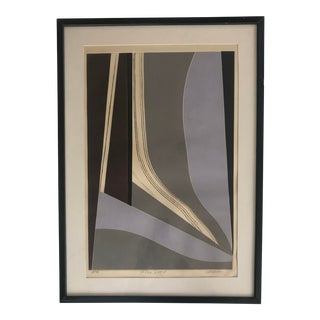 "Vintage Abstract Print ""Flax Pond"" For Sale"