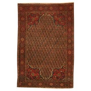 Breathtaking 6x4' Antique Persian Tabriz Boteh Rug For Sale