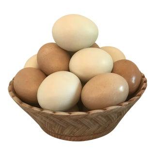 Vintage Italian Trompe L'Oeil Basket of Eggs For Sale