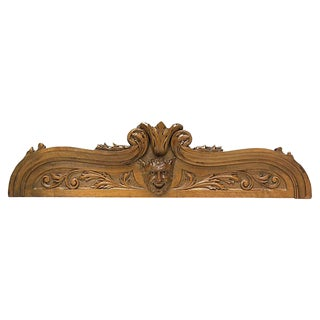 Antique Carved French Devil Wall Pediment