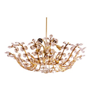 Crystal Chandelier by Oswald Haerdtl for j.l Lobmeyr For Sale