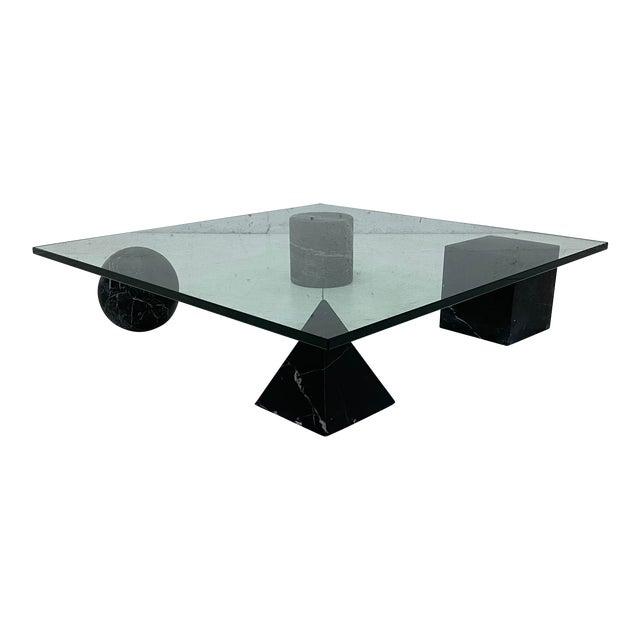 Lella and Massimo Vignelli Metafora Coffee Table for Casigliani, 1979 For Sale