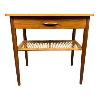 Vintage Danish Teak Side Table For Sale