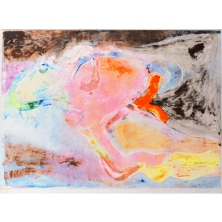'Flight to Byzantium' by Miklos Pogany, 1987; Abstract Monotype by San Francisco Bay Area Artist For Sale