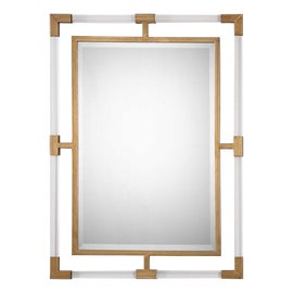 Image of Plastic Mantel and Fireplace Mirrors