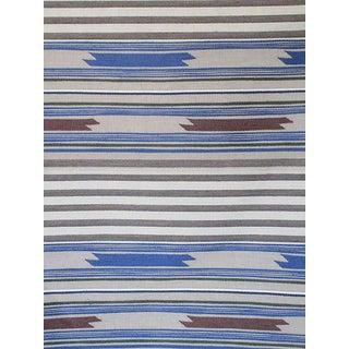 Sample, Scalamandre Cheyenne, Blu Grigio Fabric For Sale