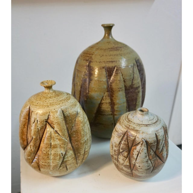 Tim Keenan Abstract Ceramic Vessels - a Pair For Sale - Image 9 of 11