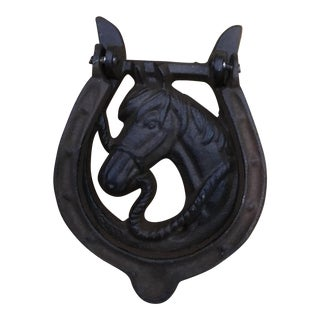 Vintage Cast Iron Equestrian Door Knocker