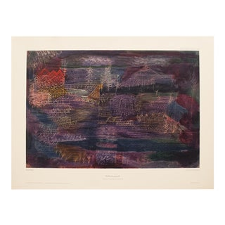 XL Paul Klee, River Landscape Original Lithograph From München For Sale