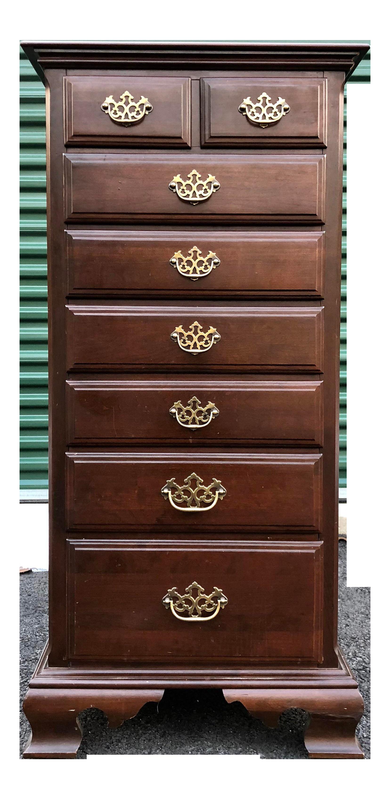 Jamestown American Tall Cherry Lingerie Dresser Chest