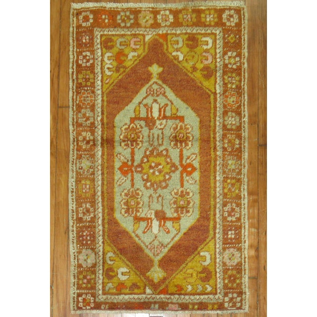 Vintage Turkish Rug, 2'6'' x 4'2'' For Sale - Image 5 of 5
