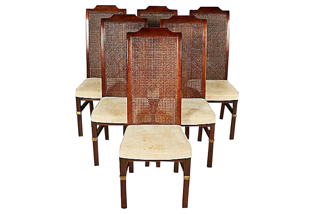 Henredon Caned Dining Room Chairs Set of 6 For Sale