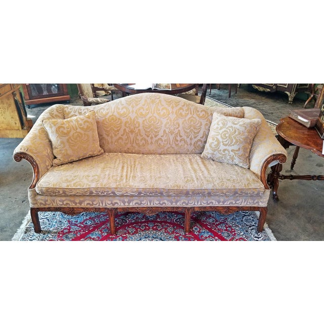 19c Chippendale Style Camel Back Sofa For Sale - Image 9 of 12